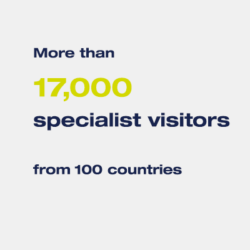 More than 17,000 specialised visitors from more than 100 countries