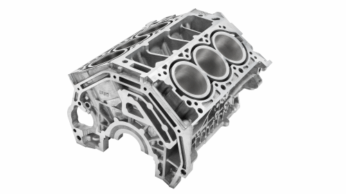 Engine block – casted on a Carat 350 © Bühler AG