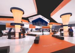 3D rendering of Primetals Technologies' booth at METEC 2019 in Düsseldorf, Germany. © Primetals Technologies