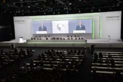 Annual General Meeting of Schaeffler AG 2018 in Nuremberg's Frankenhalle. © 2018 Schaeffler AG