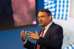 """You cannot produce the food, feed, and fiber that all of us need if we destroy the planet,"" said Sunny Verghese, Group CEO of Olam International Limited and chair of the World Business Council for Su"