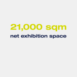 21,000 sqm net exhibition space