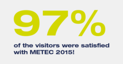 97% of the visitors were satisfied with METEC 2015