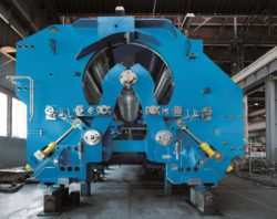 Power coiler by Primetals Technologies coils heavy-gauge and high-strength steels. © Primetals Technologies
